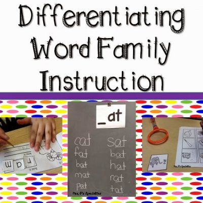 Word families and more!