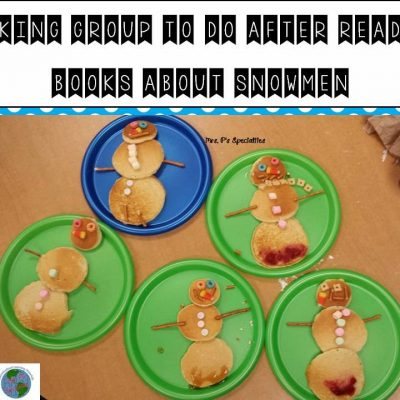Snowman Pancakes: Great book extension activity