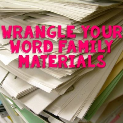 Word Family Organization