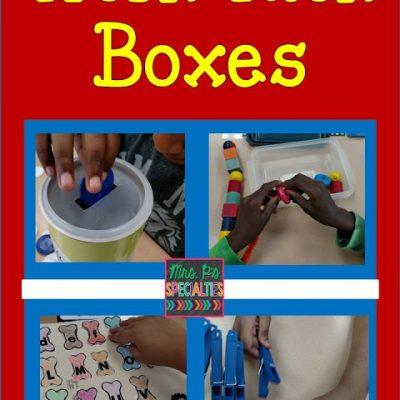 Work Task Boxes- September