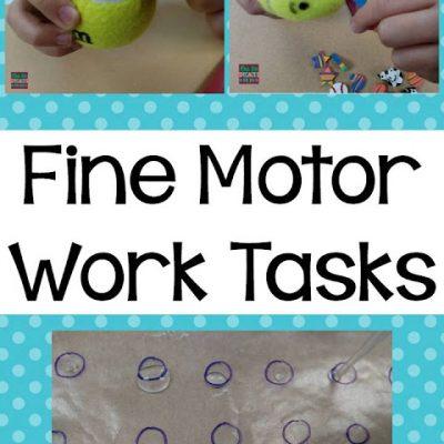 Fine Motor Work Tasks