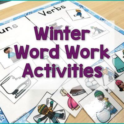 Word Work Activities For Winter