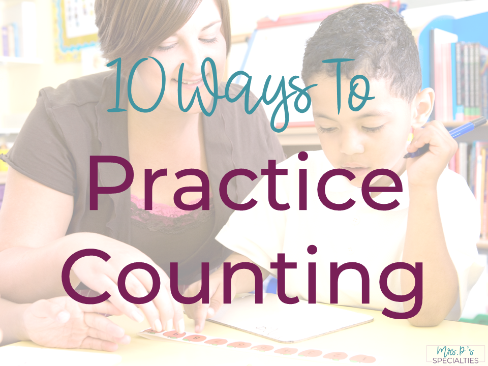 Being able to count correctly and consistently is a critical foundation for future math and life skills. To help our students become functional with counting, we need to practice using the skill in many different ways. Here are 10 different ways to easily integrate counting skills across the day and settings.