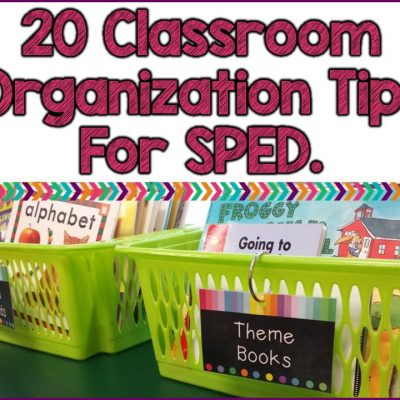 20 Ideas For Keeping Organized In Special Education