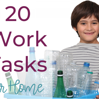 20 Work Tasks For Home Practice