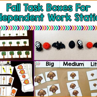 Fall Task Boxes For Independent Work Stations