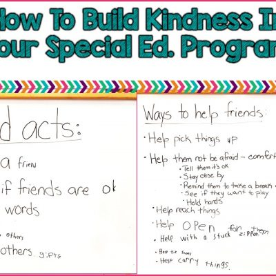 How To Build Kindness In Your Special Education Classroom