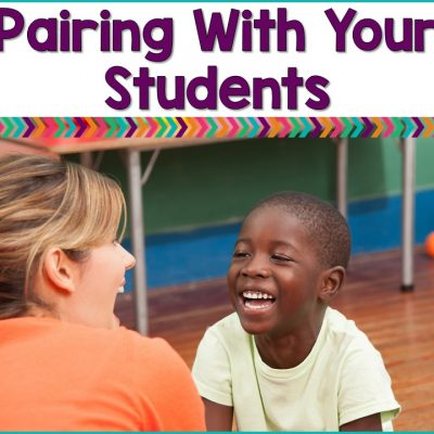 Pairing Or Building A Positive Relationship With Your Students