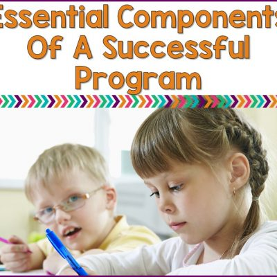 The Essential Components Of A Self-Contained Special Ed. Classroom