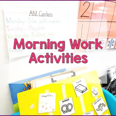 Morning Work Activities For Special Education Classrooms