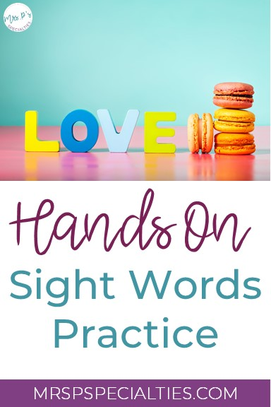 sight words, hands on practice, sight word