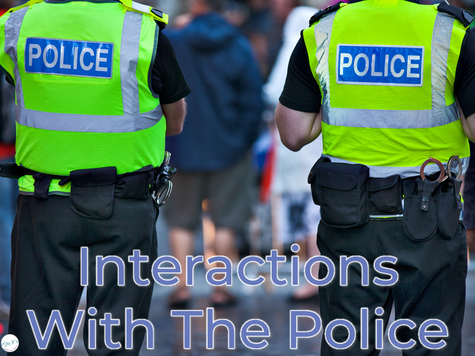 interacting with the police, people with autism