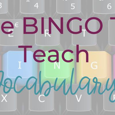 Teach Vocabulary With BINGO