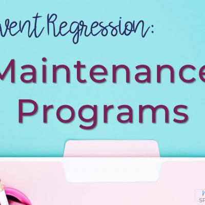 Maintenance Program: Help Students Retain Skills