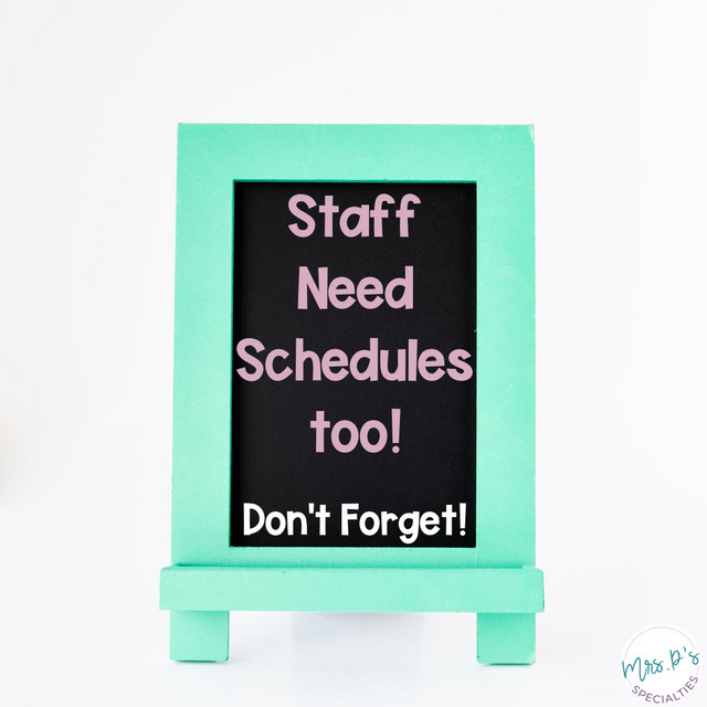 sign saying students need schedules too, don't forget
