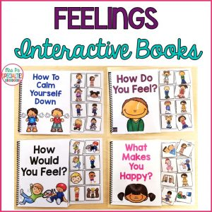 photo of the 4 feelings books in the set.
