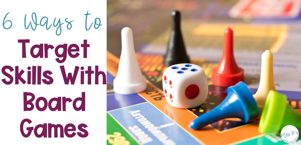 Title photo- 6 ways to target skills with board games