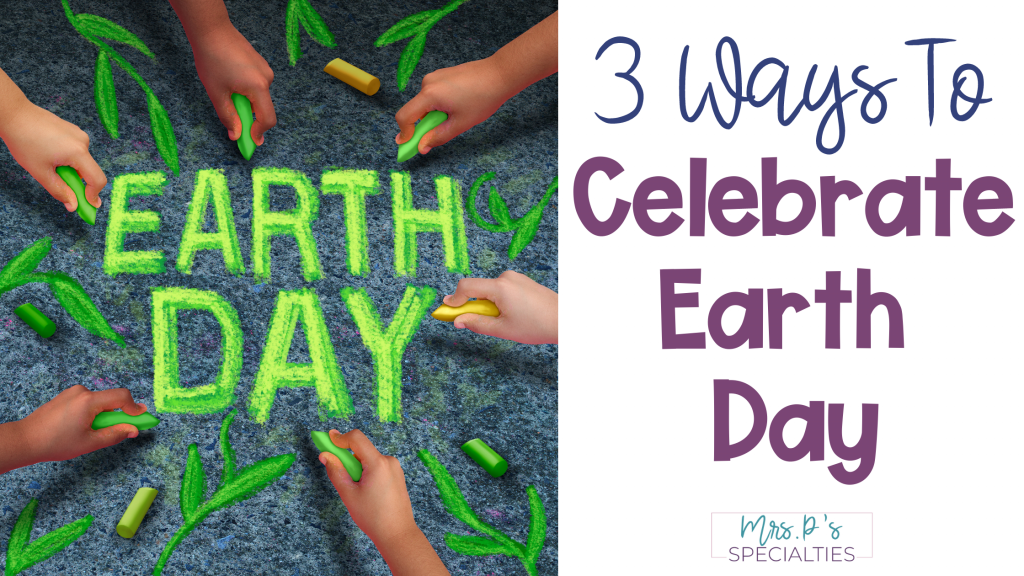Earth day post image with hands drawing