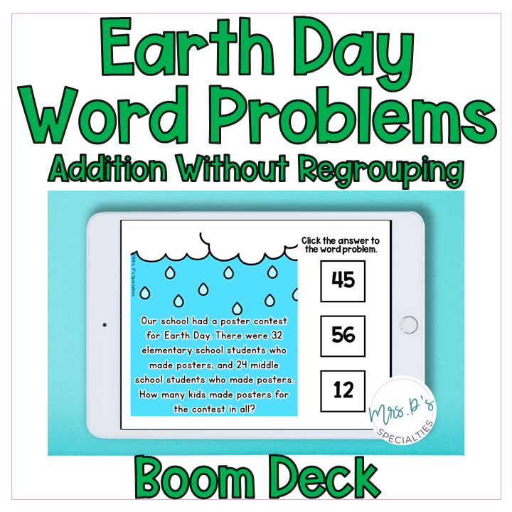 Earth Day word problems cover
