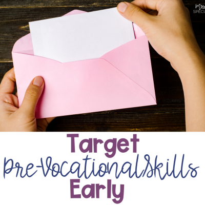 Pre-Vocational Skills: Tips For Targeting Early