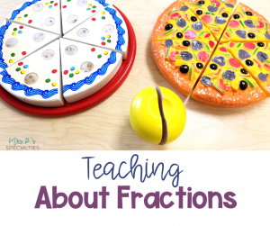 Picture of tools for teaching about fractions