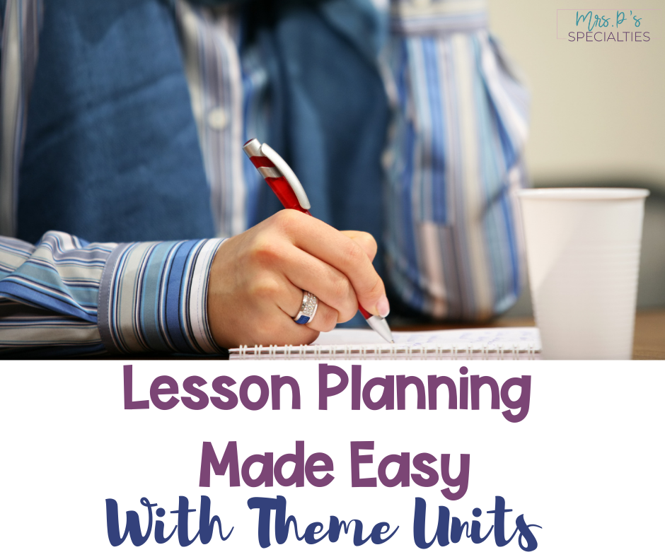 Lesson planning with theme units blog post titled image
