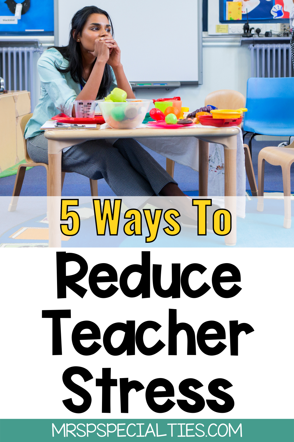 5 tips to reduce stress as a special education teacher blog post pin
