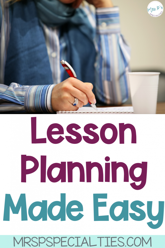 Lesson Planning with theme units blog post title pin image