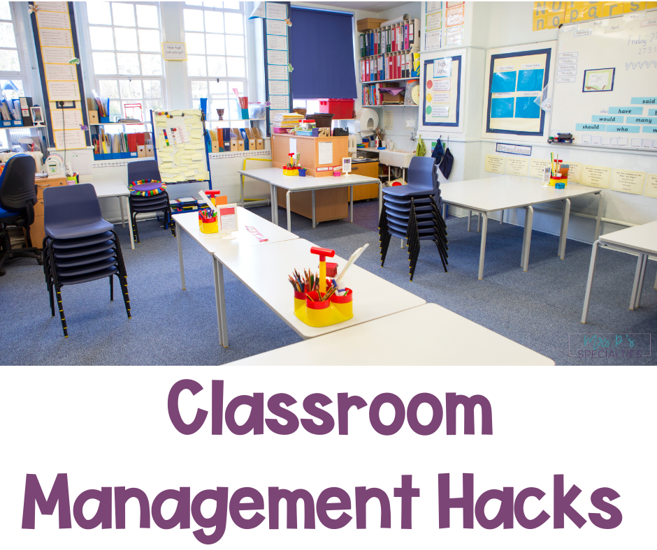 Classroom management hacks for special education blog post featured image