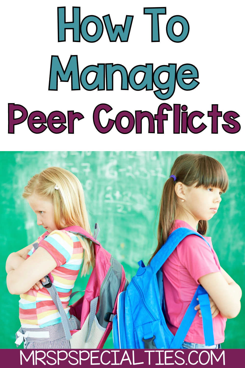 How to handle peer conflicts blog post pin image