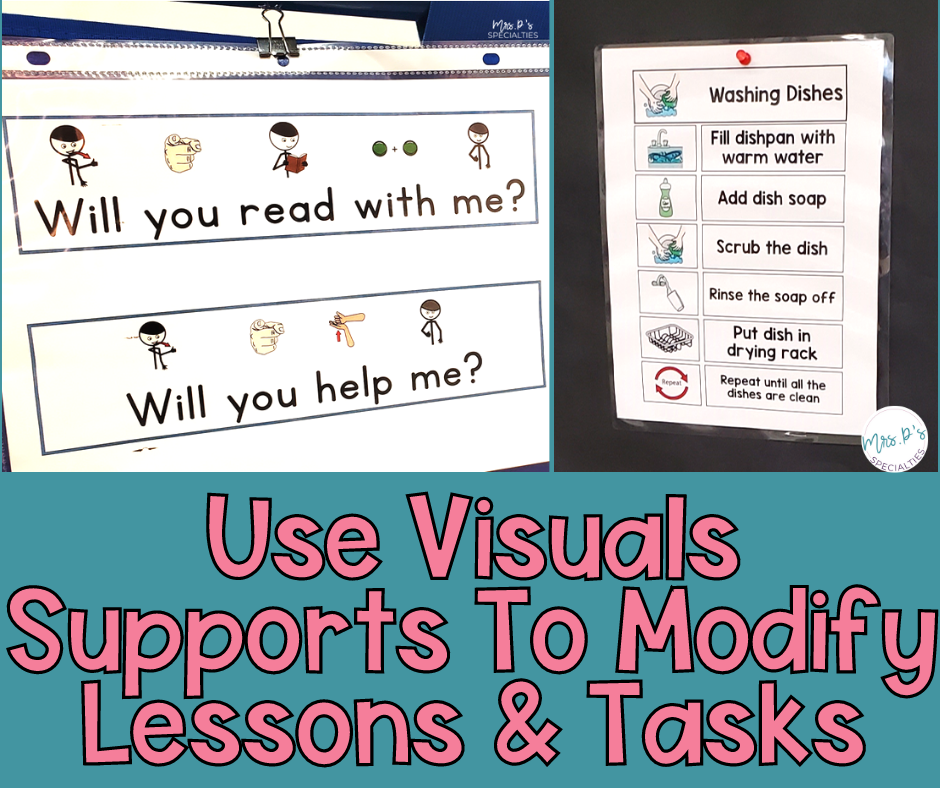Use visuals to support and modify lessons and tasks blog post featured image
