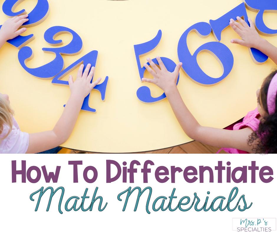 How to differentiate math materials in special education blog post featured image